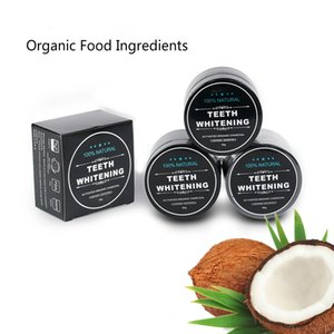 Natural Teeth Whitening Powder dentifrice Oral Care Decontamination Hygiene Cleaning activated organic charcoal coconut shell tooth Yellow