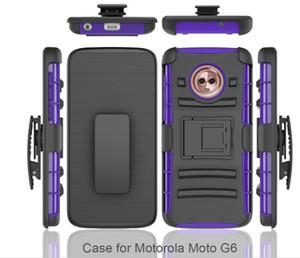 cassa del telefono per LG Q7 MetroPCS Samsung J3 2018 J7 2018 clip Custodia Kickstand Raffreddare Combo Holster clip della cinghia di protezione della copertura del telefono