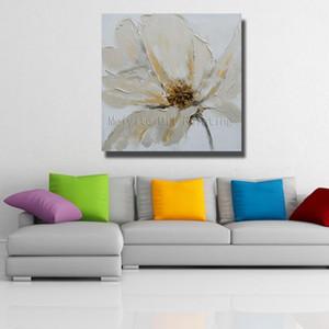 Enmarcado de alta calidad pintado a mano arte de la flor abstracta pintura al óleo Wall Art Home Deco sobre lienzo Multi tamaños tamaños l42