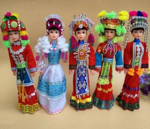 Çin yunnan özel bebekler etnik azınlık bebekler el yapımı karikatür bebekler dekorasyon 28 cm birçok opsiyonel