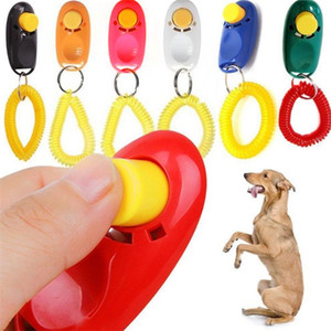 Новый портативный руководство Pet Training Clicker Dog Supplies Whistle Trainer Нежные кнопки Clicker Домашние животные собаки кошки Pet Clicker