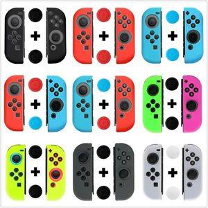 Nintendo Anahtarı Joy-Con Tasarım için yeni Silikon Kılıf Nintendo Anahtarı Joy-Con kontrolörü Ücretsiz Nakliye DHL
