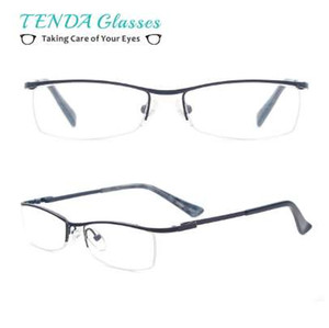 Fashion Metal Half Rim Female Eyeglasses Women Reading Glasses