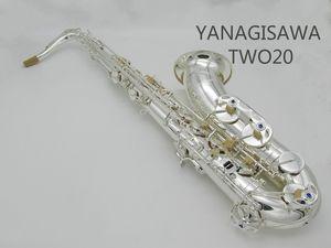 Высокое Качество Профессиональный YANAGISAWA TWO20 Bb Тенор-Саксофон Латунь Посеребренная Высокое Качество Музыкальный Инструмент Саксофон С Чехлом, перчатки