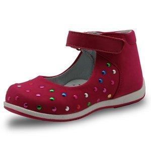 Apakowa 2018 Printemps Été En Cuir Véritable Enfants Chaussures pour Filles Enfants Filles Sandales Bébé Toddler Filles Appartements Occasionnels Chaussures