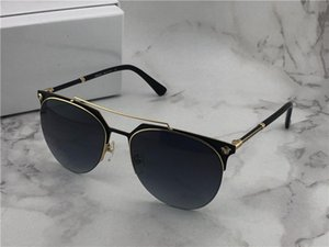 nouvelle marque de mode desinger suglasses 2181 demi-cadres en métal unti-uv 400 lunettes de protection de lentille ronde avec boîte originale