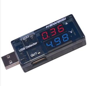 Envío gratis LED Cargador USB digital Voltaje de amperaje de corriente de carga Detector de energía Probador de la batería Medidor de voltio Amperímetro Amp Micro USB