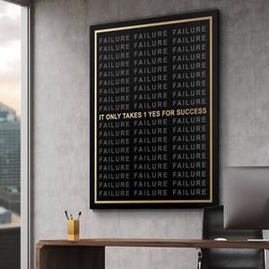 """Unframed / Alec Monopoly """"CELA PREND UN SEUL SUCCÈS"""", impression sur toile haute définition décoration murale art peinture, office art"""