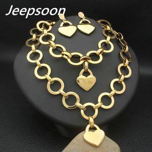 O mais novo estilo de moda de aço inoxidável chave de jóias colar de cor de ouro pulseira brincos conjuntos para mulheres presente SFXZACCI