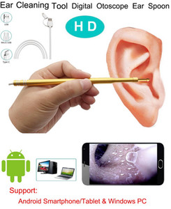 3 em 1 Ear USB Limpeza Endoscope Camera Waterproof HD 1.0 Mega Pixel endoscópio Inspeção Camera Visual Ferramenta Earpick com 6 Led PC Android
