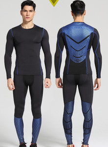 Wholesale-Men Pro Quick Dry Compression Long Johns Fitness Winter Gymming Male Spring Autumn Sporting Runs Workout Thermal Underwear Sets