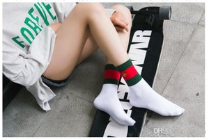 Women Embroidery Socks Ventilate Streetwear Long Socks Hip Hop Kanye Bee Printed Happy Socks 2020 New Style