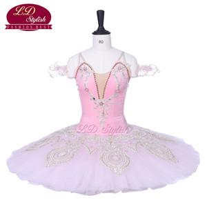 Chegada nova rosa profissional ballet tutu trajes de fada desempenho ballet apperal mulheres desgaste do estágio meninas dress
