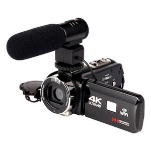 2018 WIFI 4K Camcorder 16X zoom 3.0 HD شاشة تعمل باللمس 24 ميجا بكسل مع كاميرا فيديو رقمية تعمل بالأشعة تحت الحمراء IR