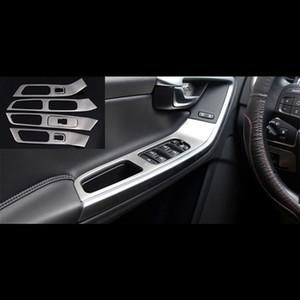 볼보 XC60 S60 V60 자동차 스타일링에 대한 7PCS 스테인레스 스틸 도어 팔걸이 패널 장식 창 유리 리프터 프레임 트림
