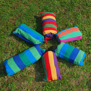 Outdoor Furniture Party 185cm * 80cm Épais Toile Bébé Hamac Camping Hamac Swing Swing Couleur Véritable Casual Chargement Sac Liant Envoyé