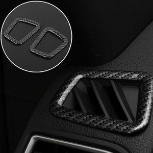 La fibra de carbono superior al cromo Vent AC ajuste marco de aire acondicionado para Ford Explorer 2016-2018