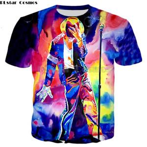 PLstar Cosmos Drop shipping 2018 Летняя мода футболка King of Michael Jackson paint 3D Print мужская женская повседневная футболка
