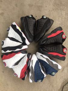 Vente chaude enfant en bas âge 13s Flint petit bébé chaussures de basket-ball pour les enfants 13 chats noirs garçon élevés de sport nourrissons et enfants fille baskets de sport