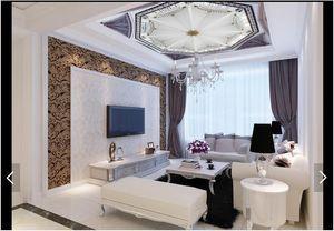 3D خلفية مخصص صور سقف جدارية خلفية 3D سقف HD غرفة المعيشة ذروة جدارية كبيرة سماء نجمية خلفية