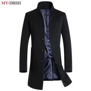 Nuevo 2017 MYDBSH Marca Mens Chaqueta de otoño Moda Casual Clásico Trench Abrigos Hombres Stand-Collar Fit Chaquetas Abrigos