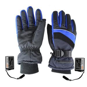 1 paire hiver gants chauffants USB chauffe-main gants thermiques électriques batterie rechargeable moto gants de ski de vélo unisexe C18111501