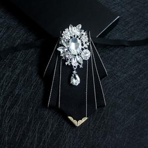 Black High-end Bow Tie Gentleman British Fashion Clothing Dress Groom Banquet Wedding Host Korean Version of The Collar Flower