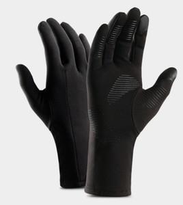 Winter-Outdoor-Sporthandschuhe warmen männlichen Touchscreen alle bezieht sich auf windundurchlässige Skid plus Samt Licht Laufwandern Reiten Handschuhe