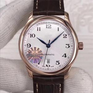 Top mens Master Collection relógios marrom marca de couro relógio de pulso do esporte Miyota 2892 Movimento tampa inferior