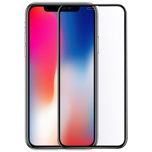 Para iphone xs max xr x 8 7 6 6 s plus x 9 h arranhão tempered glass 5.8 polegada capa completa 3d celular film protetor de tela para s9 s8 nota 9 8