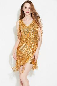 5 цвет Сексуальная блесток платье кисточкой латинский танец самба, Саса ДС бальные Румба конкурс костюм всего костюмы в группы по джаз танцевальные костюмы