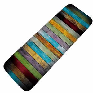Honlaker Color Tree Plank Retro Kitchen Alfombra larga Absorbent antideslizante Alfombra de cocina Alfombras de puerta de entrada Bathroom Doormats