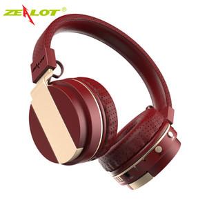 Zealot b17 fone de ouvido com cancelamento de ruído fone de ouvido bluetooth super bass fone de ouvido estéreo sem fio com microfone fone de ouvido, rádio fm, slot para cartão tf