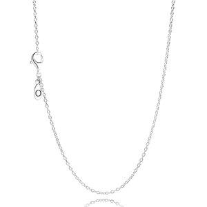 Großhandel Frauen 60 CM S925 Sterling Silber Kette Original Halskette Fit Pandora Schmuck Charms Anhänger Schmuck für Frauen