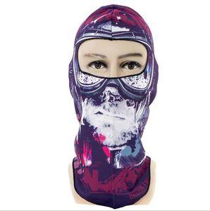 Наружные маски черепа Terror Balaclava Hat Велосипедные шапки ветрозащитные для мотоциклистов Лыжная пыль