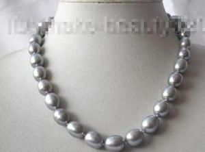 Livraison gratuite @@ superbe 13mm baroque gris collier de perles de culture d'eau douce s704Noble style Naturel Fine jewe rapide EXPÉDITION