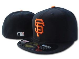 Großverkauf auf den Giants der Feldmänner passte Hut flachen Rand bestickte SF-Buchstabenteamlogo-Fans Baseballhut-Spitzenqualitätsgiganten voll geschlossenes Chapeu