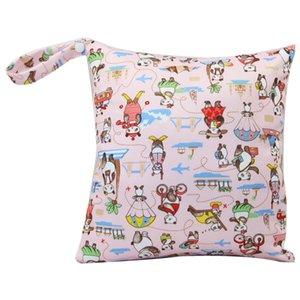 Nouveaux sacs à couches pour bébé couches empilables sacs imperméable à l'eau organisateur de couches Zipper portable infantile poussette panier sacs humide sac de stockage de tissu sec