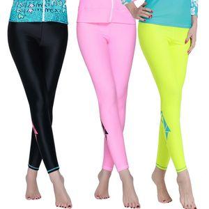 SBART New Fitness Rash Guard Pants Mujer Pantalones largos Swim Womens Swim Jammers Legging Swimsuit UPF50 + Rash Guard