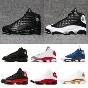 Высокое качество 13 Чикагская DMP Bred Basketball Shoes Мужчины 13s Черная кошка Он получил игровые плей-офф Hyper Pink Sneakers szie 7-13