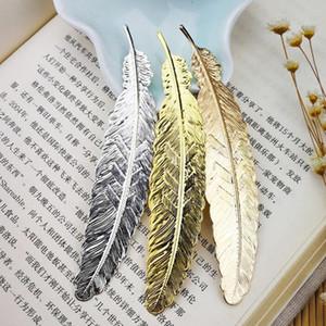 Segnalibro libro di piume di metallo Segnalibro Etichetta di contrassegno Oro argento Segnalibro in oro rosa Compleanno Festa di nozze Bomboniera ZA6073