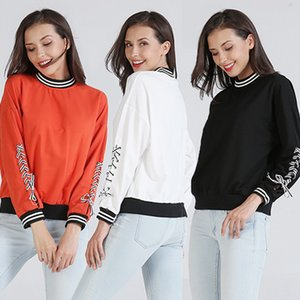 new women autumn winter patchwork tops blouse student school college loose tops blouse
