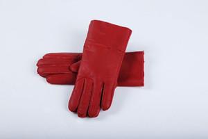 Klasik kalite parlak deri bayan deri eldiven kadın yün eldiven% 100% garantili kalite Ücretsiz Kargo