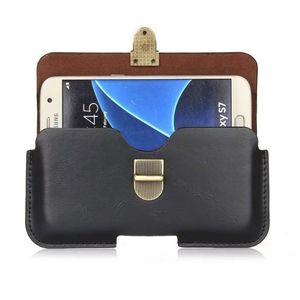 Funda universal con pu de cuero para el clip de cinturón Funda para Posh Ultra Max LTE L550 / Icon Pro HD X551