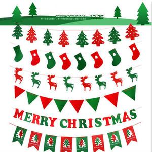 Bandiere di decorazioni natalizie Calze di alce Albero di Natale 3 metri di lunghezza Decorazione per la casa Negozio 2018 Buon Natale inebriante popolare
