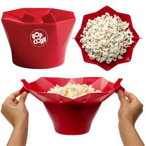 Nuevo DIY Silicone Microondas Popcorn Maker Bucket Popcorn Bowl Seguro Magic Popper Maker Container Home Healthy Snack Hornear herramientas