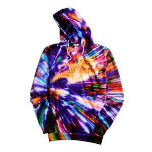 Wholesale Men's Woman's Sleeveless Peacock Hoodies 2018 Men women's Psychedelic 3D Print Sweatshirt Hoodies Tops Pullover Ypf97