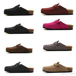 2018 venda quente saco de couro real cabeça puxar cortiça chinelos feminino masculino verão anti-skid chinelos sapatos preguiçosos amantes sapatos de praia Scuffs