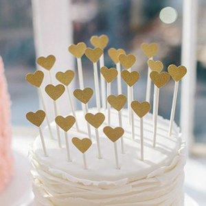 30 조각 / Lotcake Toppers 하트 모양 종이 카드 컵케익 Toppers 베이킹 컵 생일 차 파티 결혼식 장식 베이비 샤워