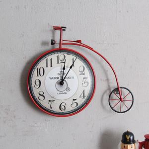 خمر الإبداعية دراجة رخيصة ساعة الحائط جدارية شخصية الديكور الدراجة تصميم شنقا ووتش ريترو دورة حلية ديكور المنزل